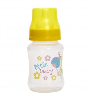 Бутылочка для кормления Курносики, с широким горлышком, с силиконовой соской, от 6 мес., 250 мл, желтый (7006 жовт) (308451)