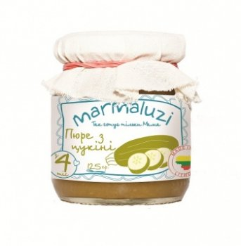 Пюре Marmaluzi з цукіні, 125 г (069945)