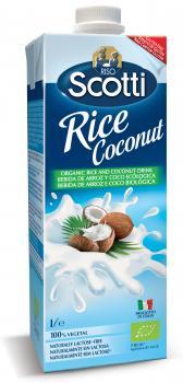 Напиток органический Riso Scotti Рисовый с кокосом, 1 л (278573)