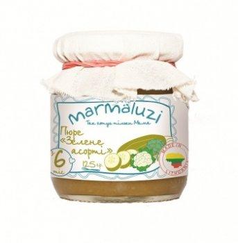 Пюре Marmaluzi Зелене асорті, 125 г (069939)