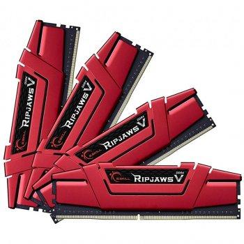 Модуль пам'яті для комп'ютера DDR4 64GB (4x16GB) 3200 MHz Ripjaws V G. Skill (F4-3200C15Q-64GVR)