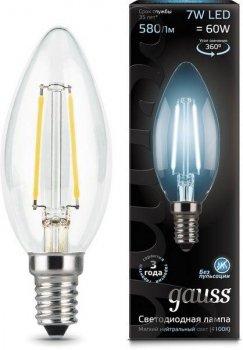 Лампа Гаусса LED Filament E14 Свічка 7W 580lm 4100К