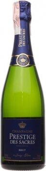 Шампанське Prestige des Sacres Brut Prestige біле брют 0.75 л 11.5% (3445240714398)
