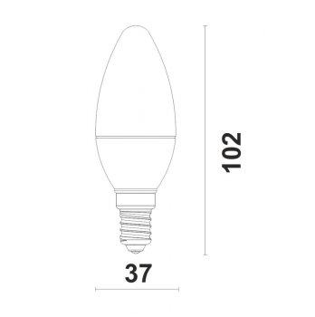 Светодиодная лампа Ultralight LED C37 6W N E27 ЕКО