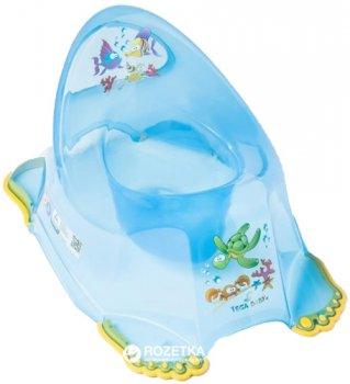 Детский антискользящий горшок Tega Baby Aqua AQ-007 Blue transperent (Tega AQ-007 blue)