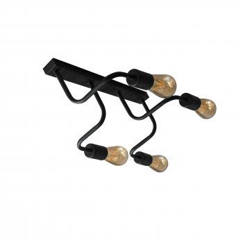 Світильник настінний бра 100lamp Loft Е-27 метал, чорний (NL 6036/4)