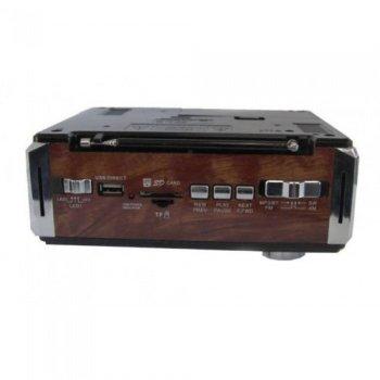 Портативний радіо приймач ТРМ RX-722LED USB microSD коричневий (im-45077)