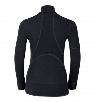 Термофутболка женская Odlo L/S Turtle Neck 1/2 Zip X-Warm Black (155151)
