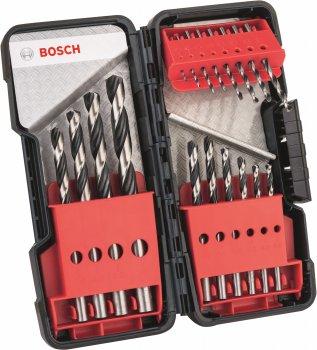 Набір свердел для металу Bosch HSS PointTeQ 18 штук (2608577350)