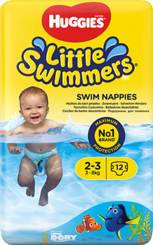 Подгузники для плаванья Huggies Little Swimmers 2-3 12 шт (5029053537795)