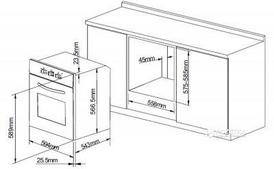 Духовой шкаф электрический PYRAMIDA F 80 EPL GWH
