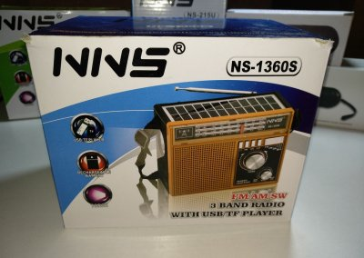 Радиоприёмник NNS NS-1360S FM Радио с солнечной батареей (VB164649)