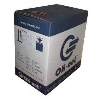 Кабель мережевий OK-Net F/UTP cat.6, LSOH, 305м (КПВонг-HFЭ-ВП (250) 4x2x0,57)