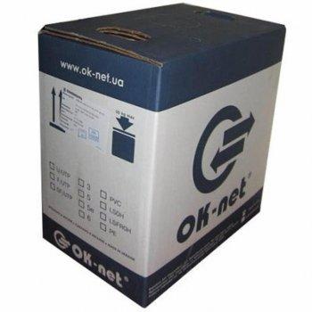 Кабель мережевий OK-Net UTP 305м Cat.6 4х2х0,54 Indoor (КПВ-ВП (250) 4х2х0,54)