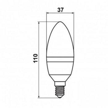 Світлодіодна лампа Biom BT-570 C37 6W E14 4500К матова (131669)