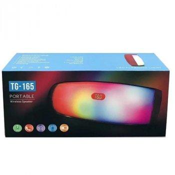 Портативна Bluetooth колонка TG-165 зі СВІТЛОМУЗИКОЮ TG