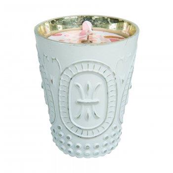 Свічка Greenleaf Cashmere Kiss Поцілунок Кашеміру 275г в античному скляному свічнику(5506333)