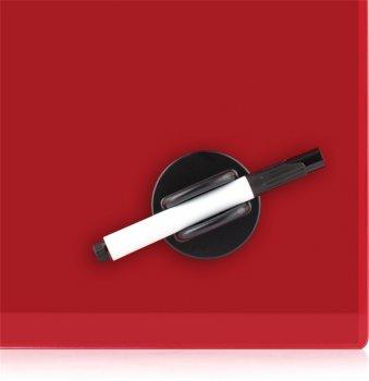 Доска стеклянная Axent магнитно-маркерная 45х45 см Красная (9614-06-a)