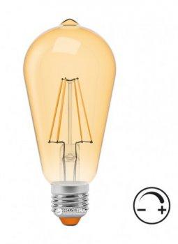 Світлодіодна лампа VIDEX ST64FAD 6W E27 2200K 220V з димером (VL-ST64FAD-06272)