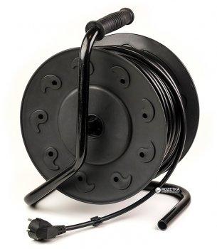 Подовжувач на котушці PowerPlant 50 м 4 розетки (PPRA10M500S4)