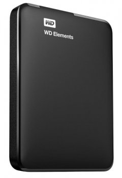 "Зовнішній диск HDD External 2.5"" 1TB Western Digital Elements Portable USB3.0, Black (WDBUZG0010BBK-WESN)"