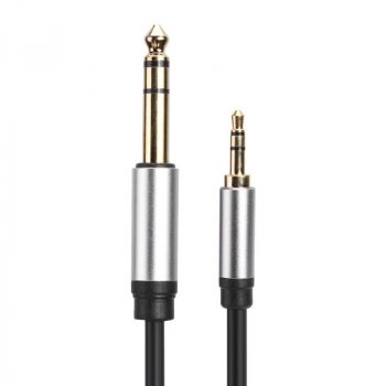 Аудіо кабель для музичного обладнання Alitek TRS Jack 3.5 мм – 6.3 мм, 1 м (48350)
