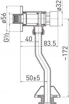 Кнопка смыва для писсуара FERRO Z211