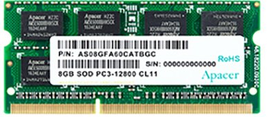 Оперативна пам'ять Apacer SODIMM DDR3-1600 8192MB PC3-12800 (DS.08G2K.KAM)