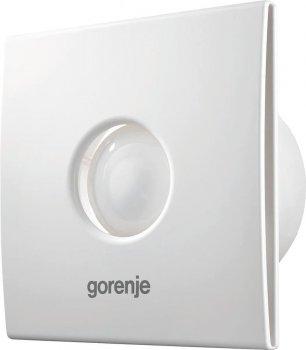 Вытяжной вентилятор Gorenje BVX100WTS, 15 Вт, 70 м3/ч, 2400 об./мин, таймер, белый (JN63BVX100WTS)