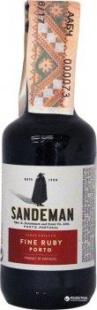Портвейн Sandeman Ruby Porto Sogrape Vinhos червоний солодкий 0.05 л 19.5% (2121217212173)