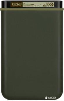 "Жорсткий диск Transcend StoreJet 25M3G 2TB TS2TSJ25M3G 2.5"" USB 3.1 Gen1 External Military Green"