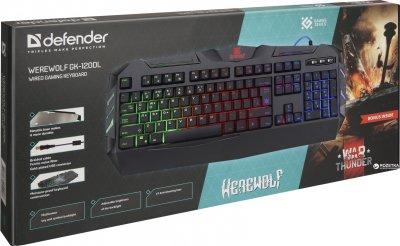 Клавіатура дротова Defender Werewolf GK-120DL USB (45120)