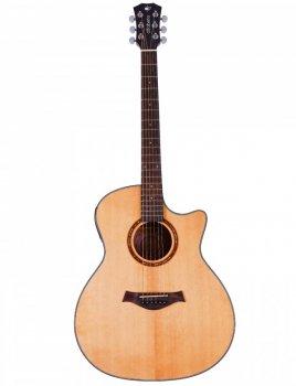 Электроакустическая гитара Alfabeto SOLID AMS40EQ NT + чехол