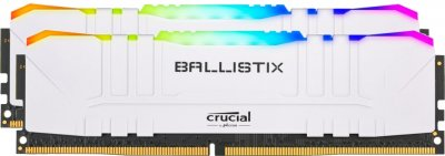 Оперативна пам'ять Crucial DDR4-3600 16384MB PC4-28800 (Kit of 2x8192) Ballistix RGB White (BL2K8G36C16U4WL)