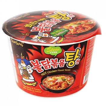 Суп рамен дуже гострий Бульдак зі смаком тушкованої курки в мисці Samyang 120г