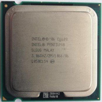 Процесор Intel Pentium Dual Core E6600 (S775/2x3.06GHz/4MB/65 Вт/BX80571E6600) Б/У