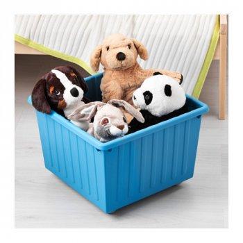Ящик на колесах IKEA VESSLA синій 800.985.16