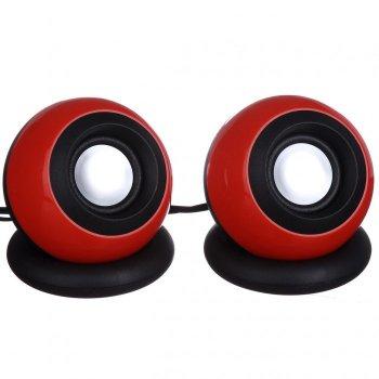 Компьютерные колонки акустика USB 2.0 D008 Красные
