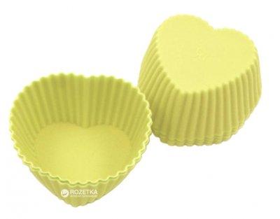 Набір форм для випікання кексів Fissman Сердечка 6 шт. Жовті (BW-6698.6)