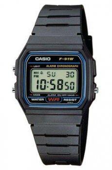 Наручний чоловічий годинник Casio F-91W-1Q