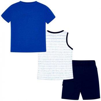 Комплект (футболка + майка + шорты) Mayoral 3609-51 Синий