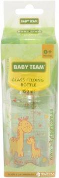 Стеклянная бутылочка для кормления Baby Team 150 мл (1200_жовтий)