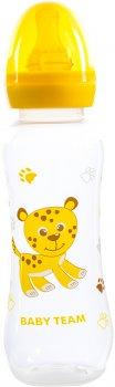 Бутылочка для кормления с латексной соской Baby Team 250 мл (1310_жовтий)