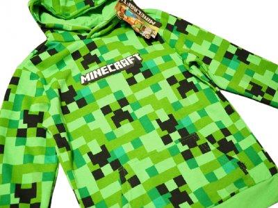 Пуловер с капюшоном Minecraft Creeper зеленый