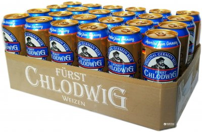 Упаковка пива Furst Chlodwig Weizen світле нефільтроване 4.9% 0.5 л x 24 шт. (4054500634940)