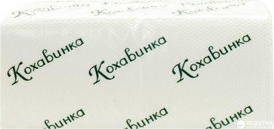 Паперові рушники Кохавинка V-fold двошарові 160 аркушів 20 упаковок Білі (4820032450194)