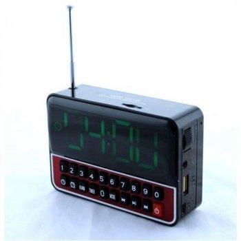 Портативна колонка MP3 годинник Wеster 1513 Black