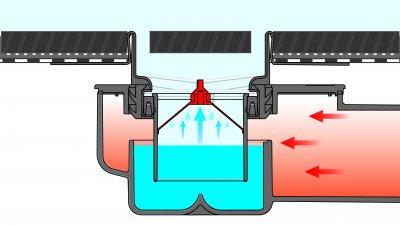 Гидрозатвор мембранный TECE drainpoint S, DN50, для трапов 3601100 и 3601400 (3695002)