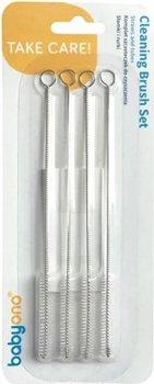 Набор ершиков BabyOno 733 для чистки соломок и трубочек Белых (113082)