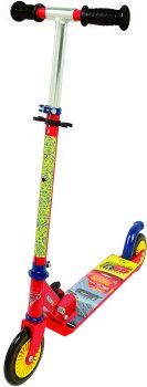Дитячий самокат Smoby Toys з металевою рамою двоколісний Тачки 3 (750344)